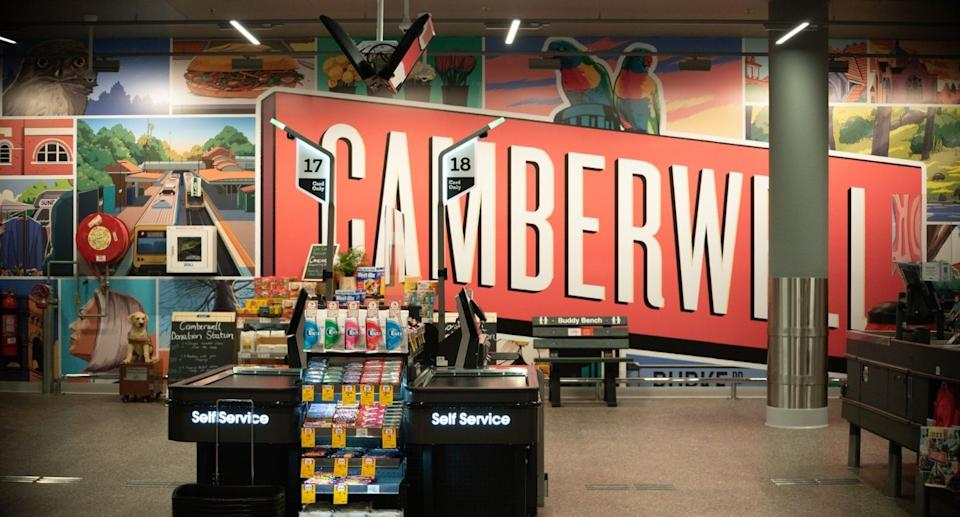 Coles Camberwell Local store mural by local artist. Source: Coles Group