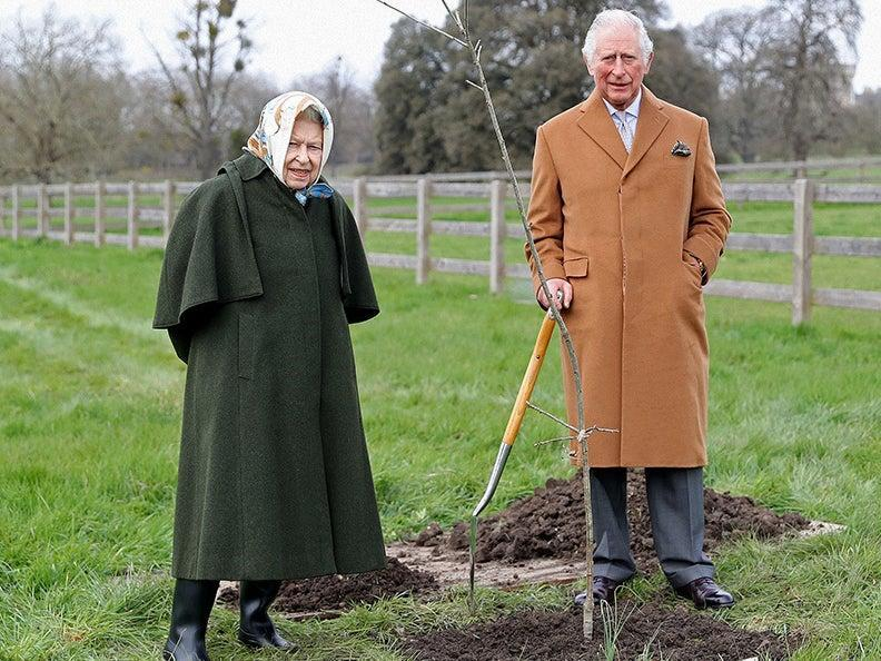 Queen Elizabeth II and the Prince of Wales (The Queen's Green Canopy )