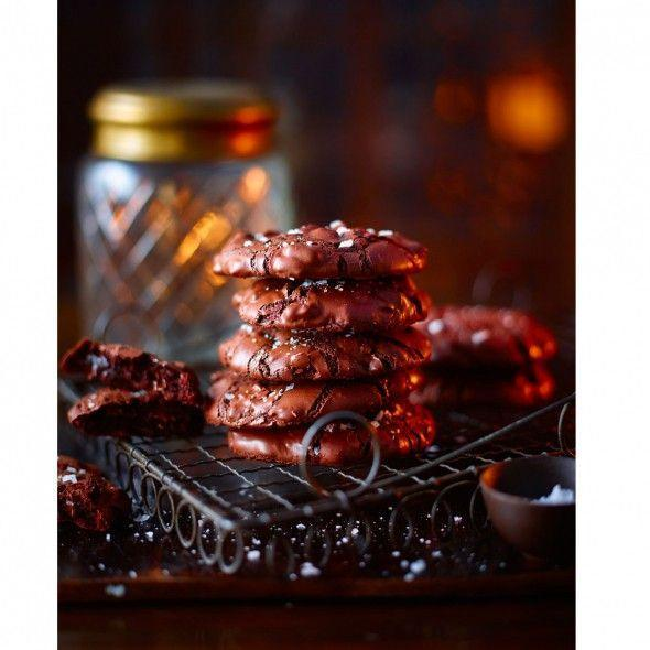 """<p>These gluten-free dark chocolate cookies are made even better with a sprinkling of sea salt, but you can leave the salt out if you prefer.</p><p><strong>Recipe: <a href=""""https://www.goodhousekeeping.com/uk/food/recipes/a553245/salted-chocolate-cookies/"""" rel=""""nofollow noopener"""" target=""""_blank"""" data-ylk=""""slk:Salted chocolate cookies"""" class=""""link rapid-noclick-resp"""">Salted chocolate cookies</a></strong></p>"""