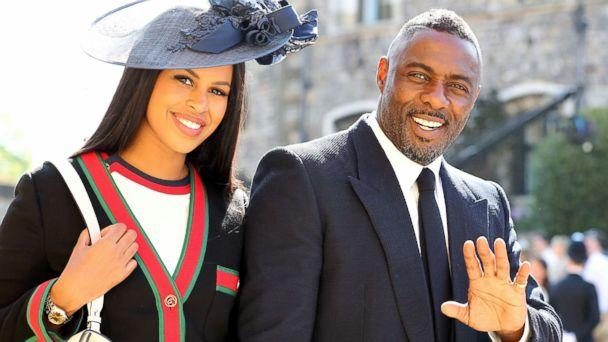 PHOTO: Idris Elba and Sabrina Dhowre arrives at St George's Chapel at Windsor Castle for the wedding of Meghan Markle and Prince Harry, May 19, 2018, in London. (Gareth Fuller/Reuters)