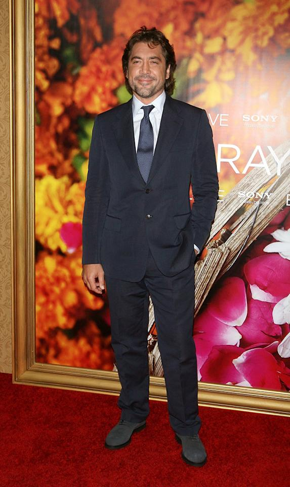"""<a href=""""http://movies.yahoo.com/movie/contributor/1800023079"""">Javier Bardem</a> at the New York City premiere of <a href=""""http://movies.yahoo.com/movie/1810105588/info"""">Eat Pray Love</a> - 08/10/2010"""