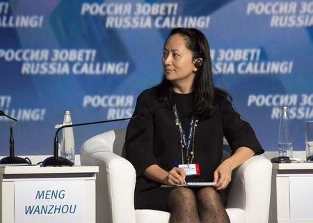 """Huawei's Executive Board Director Meng Wanzhou attends the VTB Capital Investment Forum """"Russia Calling!"""" in Moscow"""