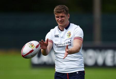 Rugby Union - British & Irish Lions Training & Press Conference - Carton House, Co. Kildare, Ireland - 22/5/17 British & Irish Lions Owen Farrell during training Reuters  / Clodagh Kilcoyne Livepic