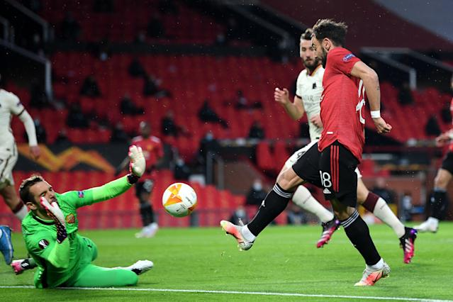 Manchester United 1-1 AS Roma LIVE! Bruno Fernandes goal - Europa League  match stream, latest score updates