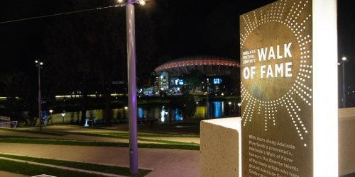 The Walk of Fame features more than 130 names of great artistes who have graced the stages of Adelaide Festival Centre since it opened in 1973
