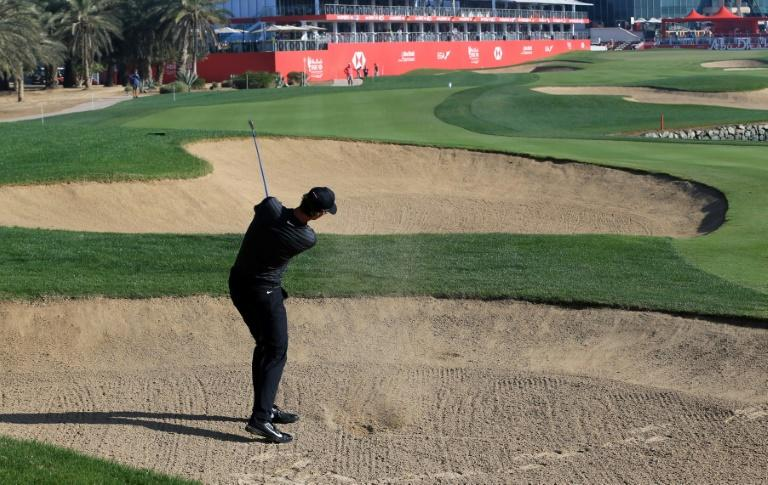 Thomas Pieters of Belgium plays during round two of the Abu Dhabi HSBC Golf Championship