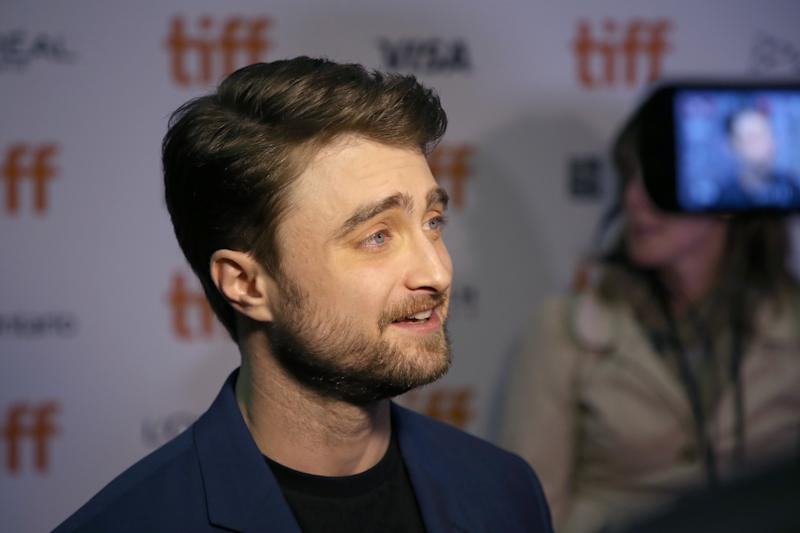 "Daniel Radcliffe attends the ""Guns Akimbo"" premiere during the 2019 Toronto International Film Festival at Ryerson Theatre on September 09, 2019 in Toronto, Canada. (Photo by Phillip Faraone/WireImage)"