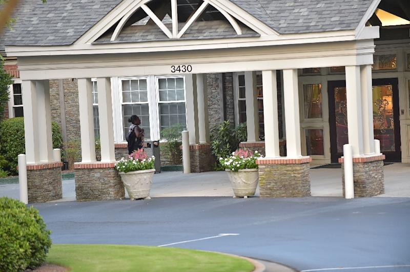 Peachtree Christian Hospice in Duluth, Georgia, where Bobbi Kristina Brown was hospitalized in January after being found unconscious and unresponsive in her bathtub (AFP Photo/Moses Robinson)