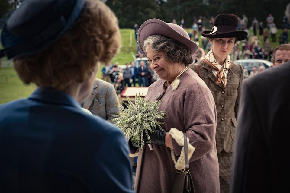 <p>Bailey is set to return as the Queen Mother for season four of Netflix's hit series</p>Mark Mainz/Netflix