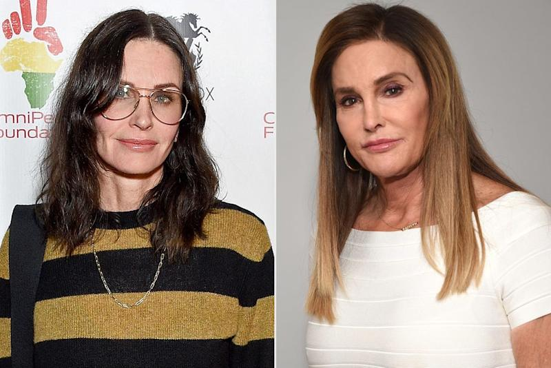 Courteney Cox and Caitlyn Jenner | Gregg DeGuire/Getty Images; Michael Kovac/Getty Images