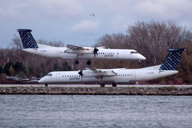 Porter Airlines hopes to have its planes back in the air the third week of June. (Chris Young/The Canadian Press - image credit)