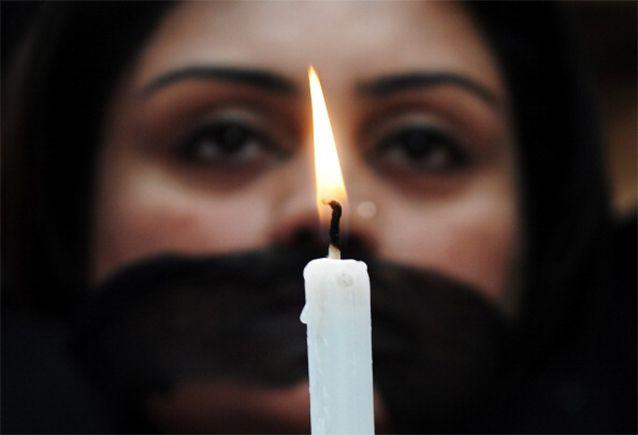 Meenakshi Kumari, 23, and her 15-year-old were 'sentenced' to be raped and paraded through the street naked with blackened faces by an unofficial all-male village council after their brother escaped with a woman of the dominant Jat caste. Photo: Getty images