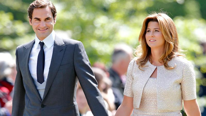 Roger and Mirka Federer, pictured here at the wedding of Pippa Middleton and James Matthews in 2017.