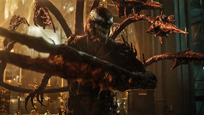Cletus Kasady aka Carnage in Venom: Let There Be Carnage. (Still: Sony Pictures)