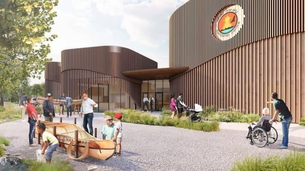 The Under One Sky centre is betting on Infrastructure Canada's Green & Inclusive Community Buildings' grant to move forward.  (Fathom Studio/Facebook - image credit)