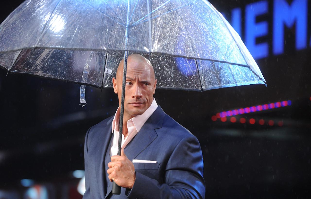 LONDON, UNITED KINGDOM - MARCH 18: Dwayne 'The Rock' Johnson attends the UK Premiere of G.I. Joe: Retaliation at Empire Leicester Square on March 18, 2013 in London, England. (Photo by Stuart Wilson/Getty Images)