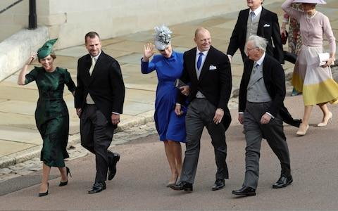 Autumn Phillips, Peter Phillips, Zara Tindall and Mike Tindall arrive  - Credit: Getty
