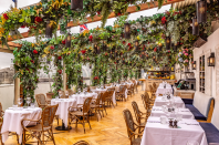 "<p><a class=""link rapid-noclick-resp"" href=""https://sancarlo.co.uk/restaurants/alto-london-selfridges/"" rel=""nofollow noopener"" target=""_blank"" data-ylk=""slk:SEE MORE"">SEE MORE</a></p><p>Alto at San Carlo, positioned on the roof of Selfridges, welcomes guests back to its foliage-laden Italian trattoria this season. This idyllic setting has an open top roof, enabling diners to enjoy its delicious foodie offering, from Sicilian arancini to lobster ravioli, in all weathers. The comfortable lounge seating area will prove an elegant destination to enjoy an Aperol Spritz in the sunshine. Open for breakfast, lunch and dinner, the restaurant will only accept walk-ins to manage capacity. <br></p>"