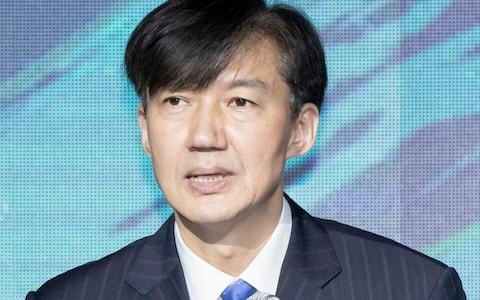 Justice Minister Cho Kuk is under fire over corruption allegations involving his family - Credit: REX
