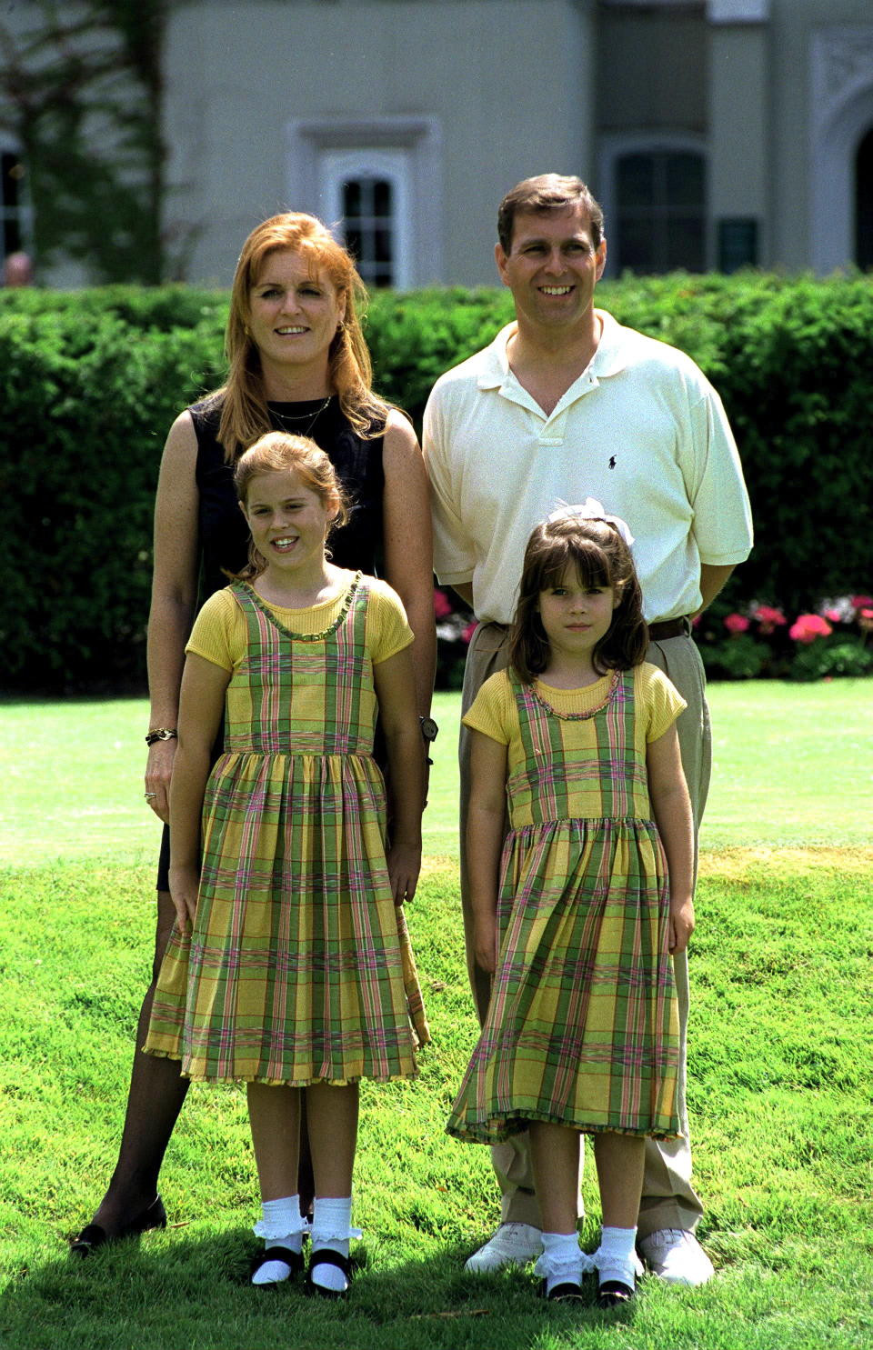 Princess Eugenie (bottom right) with her sister Beatrice and parents [Photo: Getty]