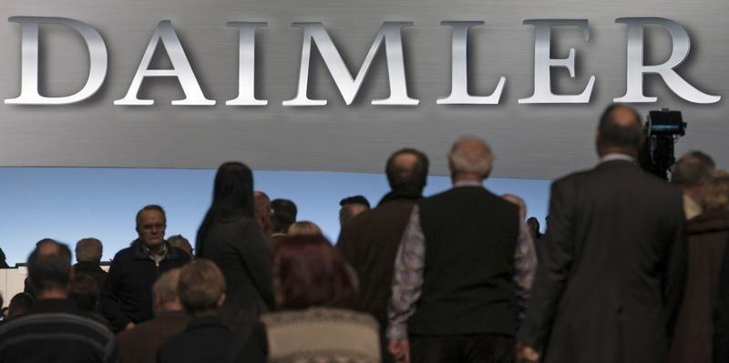Shareholders arrive for the Daimler annual shareholder meeting in Berlin
