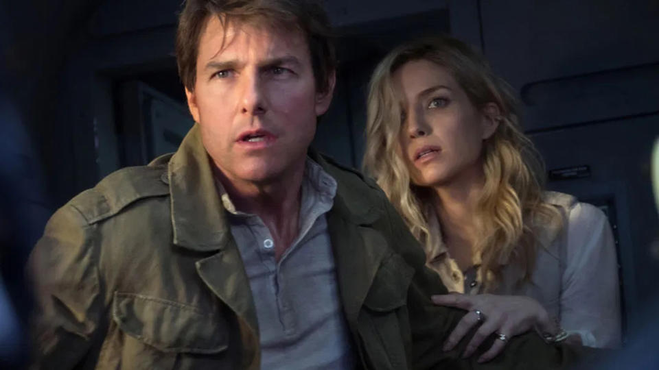 Tom Cruise and Annabelle Wallis in 'The Mummy'. (Credit: Universal)