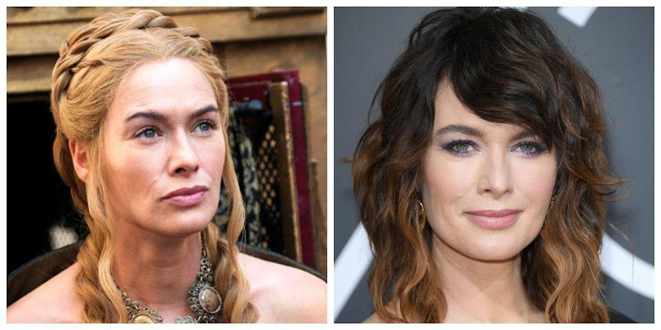 <p>Many of the <em>Game of Thrones</em> characters look different than the stars who play them, but aside from Daenerys and The Hound, Cersei Lannister is another one who especially stands out. Lena Headey, the actress who plays Cersei, has dark hair and a friendly face in real life that makes her look completely different from her smirking blonde character. </p>