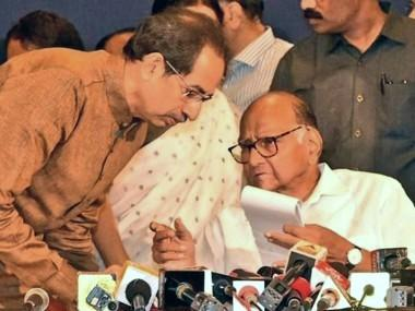 File image of Uddhav Thakeray and Sharad Pawar. Twitter@PawarSpeaks