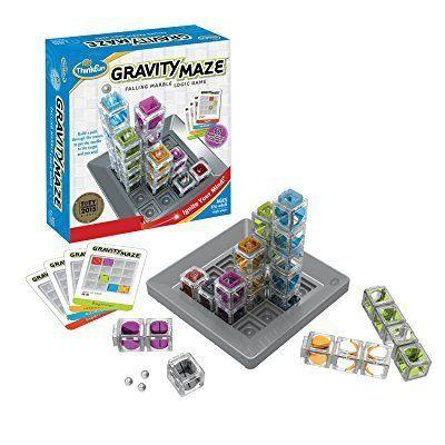 "It's a game of logic. <br /><strong>Price: <a href=""https://www.amazon.com/Think-Fun-1006-T-Gravity-Maze/dp/B00IUAAK2A"" target=""_blank"">$30</a></strong>"