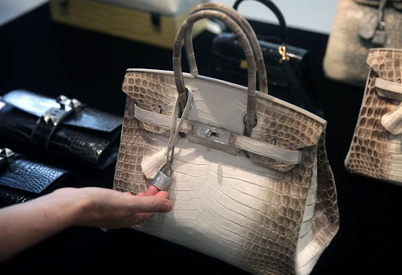 The handbag is made of niloticus crocodile hide and diamonds. [Photo: Getty]