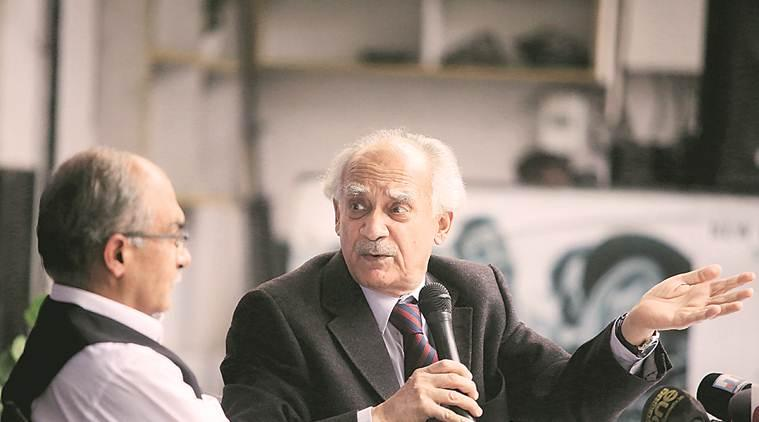 Bhushan, Shourie call for CBI probe into Rafale fighter jet deal