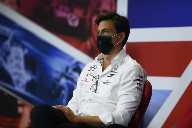 Mercedes boss Toto Wolff was pulled from a media appearance on Saturday (Rudy Carezzevoli/FIA Pool/PA)