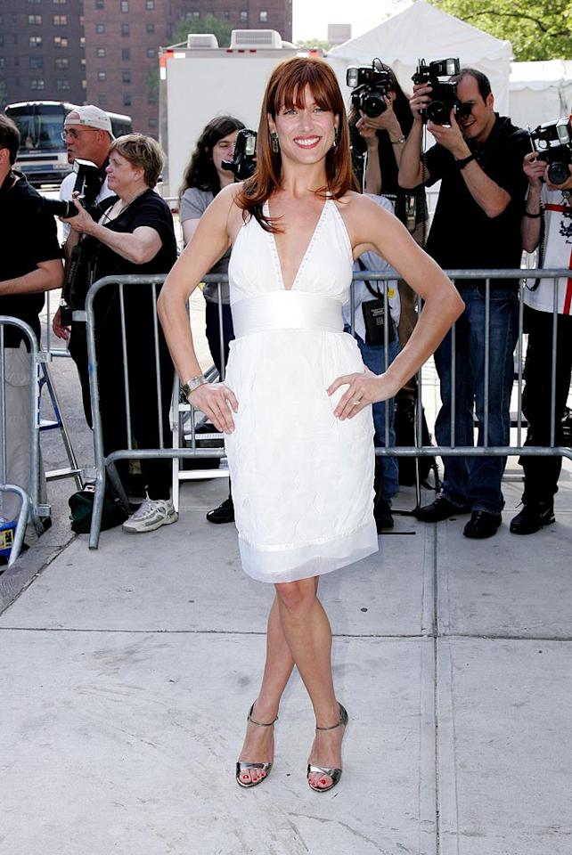 "Kate Walsh's blinding white dress is even brighter than her smile. James Devaney/<a href=""http://www.wireimage.com"" target=""new"">WireImage.com</a> - May 15, 2007"