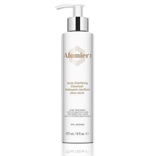 """<p><strong>AlumierMD</strong></p><p>alumiermd.com</p><p><strong>$48.00</strong></p><p><a href=""""https://www.alumiermd.com/products/acne-clarifying-cleanser"""" rel=""""nofollow noopener"""" target=""""_blank"""" data-ylk=""""slk:Shop Now"""" class=""""link rapid-noclick-resp"""">Shop Now</a></p><p>We'll let Hartman take it away: """"This cleanser combines salicylic acid, honey and rice bran extract to deeply cleanse the pores, hydrate the skin and control blemishes in a healing environment."""" Enough said. </p>"""