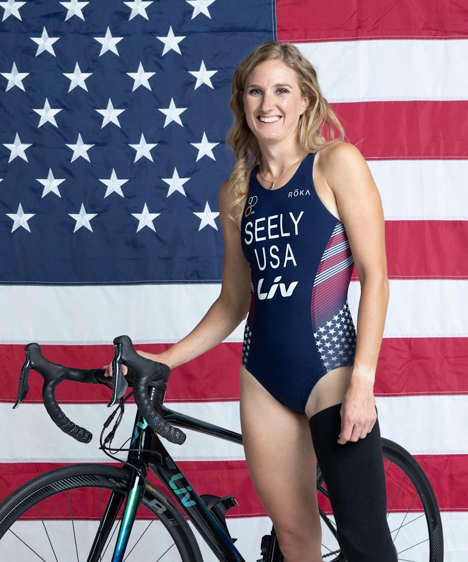 """<strong>Allysa Seely </strong><br><br><strong>Sport:</strong> Triathlon <br><strong>Instagram: </strong><a href=""""https://www.instagram.com/triallysa/?hl=en"""" rel=""""nofollow noopener"""" target=""""_blank"""" data-ylk=""""slk:@triallysa"""" class=""""link rapid-noclick-resp"""">@triallysa</a><br><br>When Seely was in college at Arizona State University, she began competing in triathlons at the collegiate level and was nationally ranked. In 2010, she was diagnosed with <a href=""""https://radiopaedia.org/articles/chiari-ii-malformation?lang=us"""" rel=""""nofollow noopener"""" target=""""_blank"""" data-ylk=""""slk:Chiari II Malformation"""" class=""""link rapid-noclick-resp"""">Chiari II Malformation</a>, <a href=""""https://www.columbiaspine.org/condition/basilar-invagination/#:~:text=Basilar%20invagination%20is%20a%20condition,brain%20stem%20and%20spinal%20cord."""" rel=""""nofollow noopener"""" target=""""_blank"""" data-ylk=""""slk:basilar invagination"""" class=""""link rapid-noclick-resp"""">basilar invagination</a>, and<a href=""""https://www.refinery29.com/en-us/2019/11/8690624/lena-dunham-ehlers-danlos-syndrome-cane"""" rel=""""nofollow noopener"""" target=""""_blank"""" data-ylk=""""slk:Ehlers-Danlos Syndrome"""" class=""""link rapid-noclick-resp""""> Ehlers-Danlos Syndrome</a>, all of which impacted her spine, brain, and connective tissues, according to <a href=""""https://www.teamusa.org/usa-triathlon/athletes/Allysa-Seely"""" rel=""""nofollow noopener"""" target=""""_blank"""" data-ylk=""""slk:Team U.S.A"""" class=""""link rapid-noclick-resp"""">Team U.S.A</a>. After going through her first surgery, she went back to competing, and in 2012 made a debut as an elite paratriathlete. She went to the Rio 2016 games and brought home gold in the paratriathlon's debut as a Paralympic medal event. <br> <br><strong>What's your favorite workout?</strong> <br>""""Can I pick one from each discipline? I do train in three sports after all,"""" Seely says. For running, she likes to do descending intervals: she'll start by running for eight minutes, then six minutes, then four, two, and one, resting in between each bl"""