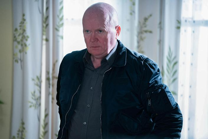 WARNING: Embargoed for publication until 00:00:01 on 09/02/2021 - Programme Name: EastEnders - January-March 2021 - TX: 16/02/2021 - Episode: EastEnders - January-March 2021- 6222 (No. 6222) - Picture Shows: ***EMBARGOED TILL TUESDAY 9TH FEBRUARY 2021*** Phil Mitchell (STEVE MCFADDEN) - (C) BBC - Photographer: Kieron McCarron/Jack Barnes