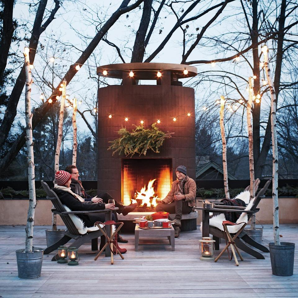 people enjoying outdoor space in the winter