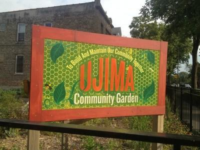 Ujima Community Garden in West Humboldt Park is the site of a joint effort between NHS and Guaranteed Rate.