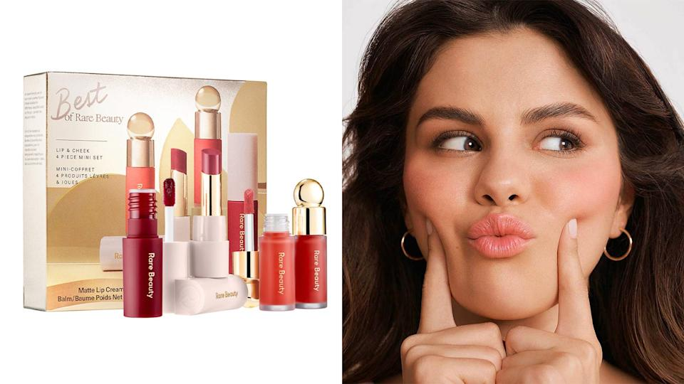 Best gifts for makeup lovers: Rare Beauty by Selena Gomez Lip & Cheek Set