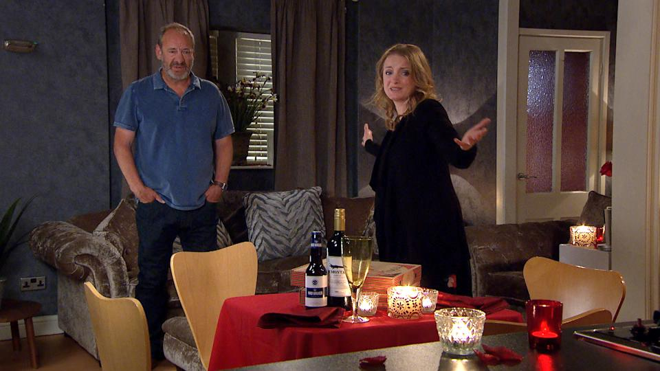 FROM ITV  STRICT EMBARGO  Print media - No Use Before Tuesday 13th July 2021 Online Media - No Use Before Tuesday 13th July 2021  Emmerdale - Ep 9031  Monday 19th July 2021   When Jimmy King [NICK MILES] arrives home, Nicola King [NICOLA WHEELER] has set the mood for a romantic evening and is wearing Laurel's dress looking stunning. But will it have the desired effect?    Picture contact David.crook@itv.com   This photograph is (C) ITV Plc and can only be reproduced for editorial purposes directly in connection with the programme or event mentioned above, or ITV plc. Once made available by ITV plc Picture Desk, this photograph can be reproduced once only up until the transmission [TX] date and no reproduction fee will be charged. Any subsequent usage may incur a fee. This photograph must not be manipulated [excluding basic cropping] in a manner which alters the visual appearance of the person photographed deemed detrimental or inappropriate by ITV plc Picture Desk. This photograph must not be syndicated to any other company, publication or website, or permanently archived, without the express written permission of ITV Picture Desk. Full Terms and conditions are available on  www.itv.com/presscentre/itvpictures/terms