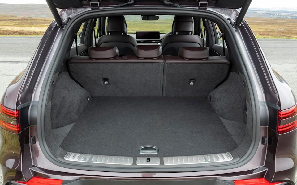 The boot is roughly on a par with its rivals in size, but the sloping rear glass means it isn't quite as useful for big, bulky items - Genesis
