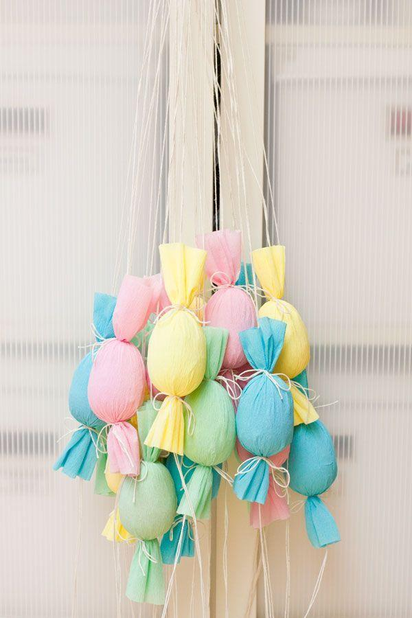 "<p>Turn your Easter egg hunt into a pull-and-pop party. Hang these candy-filled, candy-shaped poppers from a tree, give each child a color, and let them to go to town.</p><p><em><a href=""http://studiodiy.com/2013/03/25/diy-egg-popper-tree/"" rel=""nofollow noopener"" target=""_blank"" data-ylk=""slk:Get the tutorial at Studio DIY »"" class=""link rapid-noclick-resp"">Get the tutorial at Studio DIY »</a></em></p>"