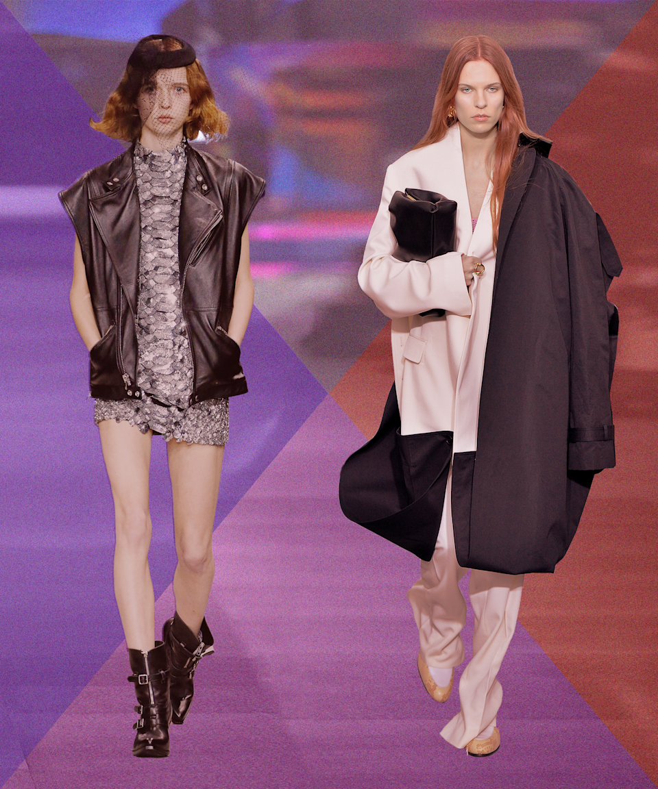 """<h2>New Celine vs. Old Céline</h2><br>No fashion Halloween round-up would be complete without an old Céline vs. new Celine couple costume. One of the most divisive fashion switch-ups in history, the Phoebe-to-Hedi transition even managed to garner its own <a href=""""https://www.instagram.com/oldceline/"""" rel=""""nofollow noopener"""" target=""""_blank"""" data-ylk=""""slk:Instagram account"""" class=""""link rapid-noclick-resp"""">Instagram account</a>, with 343K Philo stans following along."""