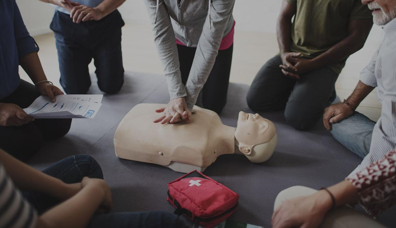 "<p>Cardiopulmonary Resuscitation is a lifesaving technique that can prove useful in many emergencies, including a heart attack. Performing CPR can help keep someone alive while emergency responders make their way to the site of the incident. The <a href=""https://www.redcross.org/take-a-class/classes/adult-cpr%2Faed-online/cours000000000050577.html?utm_source=BVSpotlights&utm_medium=organic&csrmater=true"" target=""_blank"">American Red Cross</a> offers CPR and other safety classes that only take a few hours and can be taken both in person and online.</p>"