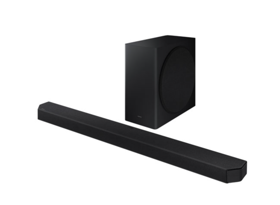 picture of Samsung HW-Q900A 406-Watt 7.1.2 Channel Sound Bar with large black box and long black box