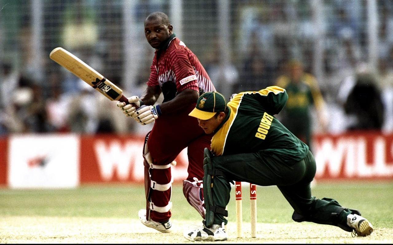 1 Nov 1998:  Philo Wallace of the West Indies in action during the Wills International Cup at the Bangabandhu Nation Stadium in Dhaka, Bangladesh. \ Mandatory Credit: Stu Forster /Allsport