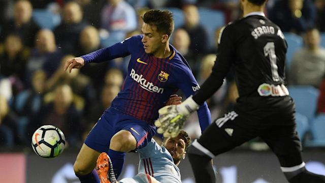 Barca had Sergi Roberto sent off as Celta twice came from behind but La Liga's leaders maintained their unbeaten run with a 2-2 draw