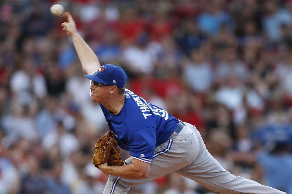 Trent Thornton had been a reliable presence in the Blue jays rotation until Monday. (Michael Dwyer/AP)