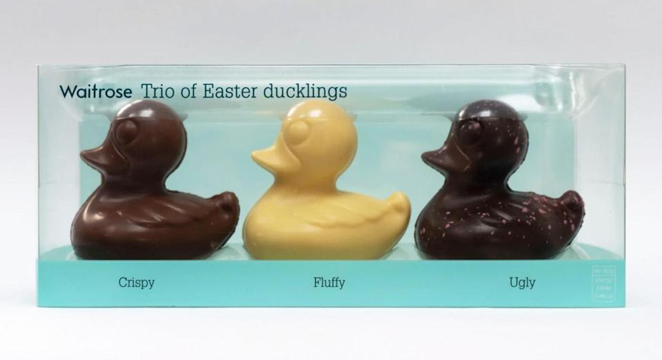 """Complaints have been made about the """"ugly"""" dark chocolate duckling. [Photo: Waitrose]"""