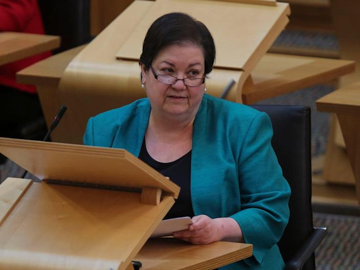 Scottish Labour interim leader Jackie Baillie pictured during first minister's questionsPA